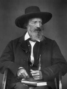 Portrait of English Poet Alfred Lord Tennyson Premium Photographic Print