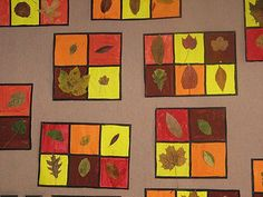 this idea for a fall science bulletin board. Fall Arts And Crafts, Autumn Crafts, Autumn Art, Autumn Theme, Kindergarten Art Projects, Classroom Art Projects, School Art Projects, Art Education Lessons, Art Lessons