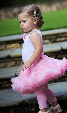 RuffleButts Precious Petti Skirt- Baby Pink