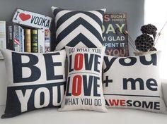 Aliexpress.com: Comprar Nordic Simple moderna almohada, pareja amor cojín, funda de almohada de lino, cojines del sofá almohadas decorativas en casa de cojín niño fiable proveedores en KingdomArt