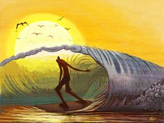 #Jay Alders #Surf art