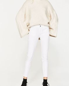 Image 4 of MID-RISE SKINNY JEANS from Zara
