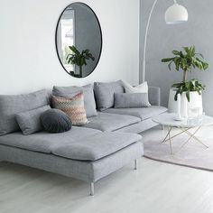 We are in the midst of changing up things at home. In 2017 this family of 3 will become a family of joyful, but it has put some urgency on redoing the layout of our flat. We need an extra bedroo… diy Family room THE SöDERHAMN SOFA Minimalist Living Room, Living Room Scandinavian, House Interior, Apartment Decor, Sofa Home, Living Room Grey, Living Room Decor Gray, Living Decor, Living Room Designs