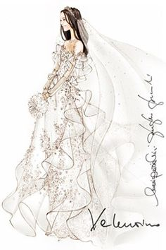 Kate Middleton's #wedding #dress sketched by #world #famous #designers