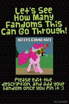 MLP>>>Harry Potter>>>Harry Potter>>>PJ>>>Doctor Who>>>>Doctor Who Again>>>>HTTYD>>>>Gravity Falls