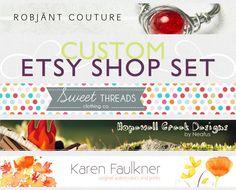 Custom Etsy shop set - web package - banner, avatars & more