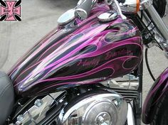I will own a purple Harley Davidson one day! all custom made ;)