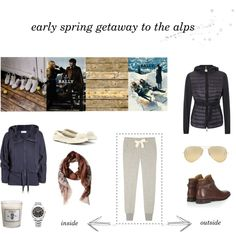 early spring getaway to the alps Early Spring, Moncler, Ugg Australia, Rolex, Uggs, Ray Bans, Adidas, Polyvore, Fashion