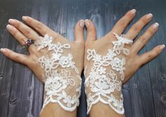 Free Shipping, White Wedding Gloves, Bridal Lace Gloves, Fingerless gloves, Fairy Wedding Gloves, Bridal cuff by DoveGlove on Etsy https://www.etsy.com/listing/198967512/free-shipping-white-wedding-gloves