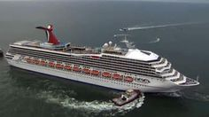 Carnival Triumph Towed in to Mobile Bay