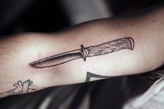 Knife tattoo by Kamil Czapiga