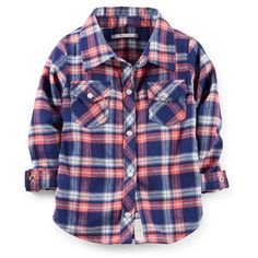 Lightweight Flannel Shirt | Carter's | Get up to 8% Cashback when you shop at Carter's as a DubLi member! Not a member? Sign up for FREE today! www.downrightdealz.net