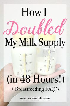 I Doubled My Milk Supply in 48 Hours Breastfeeding tips on how to increase milk supply, what power pumping is, and breastfeeding foods to boost your supply. Doula, Boost Milk Supply, Foods Increase Milk Supply, Breastfeeding And Pumping, Loosing Weight While Breastfeeding, Best Food For Breastfeeding, Newborn Breastfeeding Tips, Breastfeeding Smoothie, Pregnancy