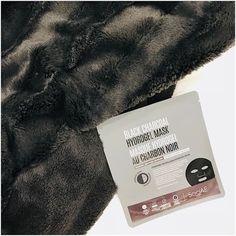 Soo'AE: Black Charcoal Hydrogel Sheet Mask review Sheet Mask, Charcoal, Black, Black People