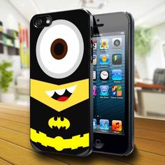 A: Despicable Me Batman Minion Iphone 4 Iphone Case: Cell Phones & phone Iphone 4s, Coque Iphone 4, Iphone 5 Cases, Batman Minion, Despicable Minions, Batman Phone, Galaxy S3, Ipod Touch, Minion Rock