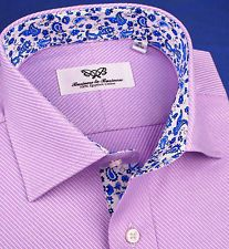 Mens Lilac Dress Shirt Blue Formal Business Floral Cool Paisley Promo Sale Item   eBay