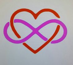 Infinity and Heart Decal, Infinity Yeti Decal, Infinity Heart Decal, Heart Infinity car decal, infinity laptop decal, infinity rtic decal by HappyCraftin on Etsy