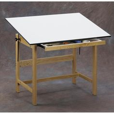 Have to have it. Alvin Titan Solid Oak Drafting Table - $513.3 @hayneedle