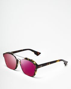 e282c5a5e7cae0 Dior Abstract Square Mirrored Sunglasses   Bloomingdale s Pink Mirror,  Jewelry Mirror, Pink Sunglasses