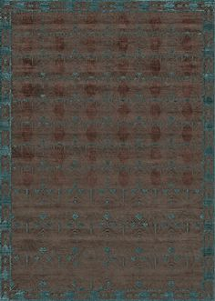 Ковер ручной работы. UMBRELLA / Dark copper / aquamarine