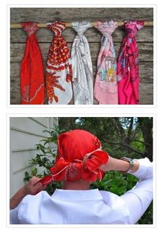Great Tutorial from BC Survivor Hollye Jacobs on how to tie head scarves.  #breastcancer #silverlining