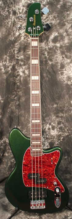 2016 Ibanez Talman TMB300 4-String Electric Bass Guitar Metallic Forrest