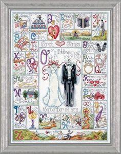 Design Works Wedding ABC Cross Stitch Kit, Multi-Colour by Design Works