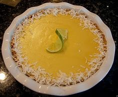 Key Lime Pie with Pretzel Crust.