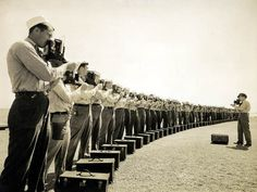 Naval Photography School instructor and students at NAS Pensacola, c. 1942