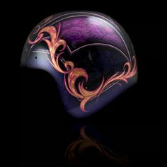 Motorcycle Helmet Design, Custom Paint Motorcycle, Bike Helmets, New Technology Gadgets, Vintage Helmet, Moto Cafe, Helmet Paint, Mechanical Art, Custom Helmets