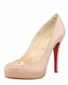 Patent Rolando by Christian Louboutin at Bergdorf Goodman.