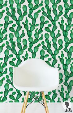 Afraid of commitment? Use wall decals or removable wallpaper.