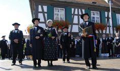 Le traditionnel ''Streisselhochzeit'' (mariage paysan au bouquet) - Seebach, Bas-Rhin (France)