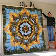 Prairie Star, Quiltworx.com, Made by Judy Morrison.