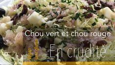 Chou vert et rouge en crudité ! Chou Kale, Crudite, Potato Salad, Potatoes, Ethnic Recipes, Food, Dressing, Raisin, Sprouts