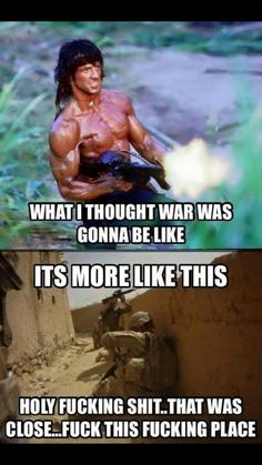 Fucking desert with the damn walls to hide behind that fucking suck! I hate that dump! Army Jokes, Military Jokes, Army Humor, Military Veterans, Military Life, Hero Quotes, Life Quotes, Marines Funny, Guter Rat
