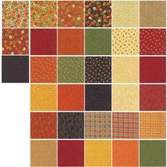 "Welcome Fall Mini 2.5"" Charm Pack by Deb Strain for Moda Fabrics 19770MC 42 2.5"" Fabric Squares"