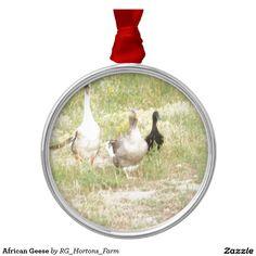 African Geese Metal Ornament