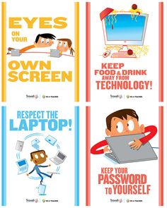8 Must Have Classroom Posters for Technology Best Practices ~ Educational Technology and Mobile Learning