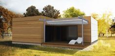 Bungalow, Shed, Outdoor Structures, Architecture, Home, Hip Roof, Modern Wood House, Real Estate Agents, Cool Architecture