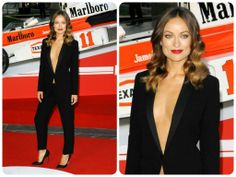 Olivia Wilde rocked this Gucci tuxedo suit at the London premiere of her movie Rush.