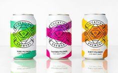 Beer branding design - Showcase of the Coolest Beer Can Packaging Designs – Beer branding design Beverage Packaging, Bottle Packaging, Coffee Packaging, Food Packaging, Lager Beer Brands, Craft Beer Labels, Wine Labels, Craft Bier, Beer Label Design