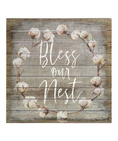 Another great find on #zulily! 'Bless Our Nest' Wall Sign #zulilyfinds