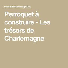 Perroquet à construire - Les trésors de Charlemagne