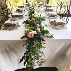 Bliss Floral Creations is a Johannesburg based boutique florist specialising in personalised wedding and event flowers Table Garland, Centerpieces, Table Decorations, Garlands, Personalized Wedding, Bliss, Floral Design, Table Settings, Amazing