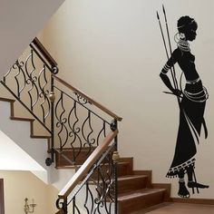 African Tribe Living Room Wall Decal