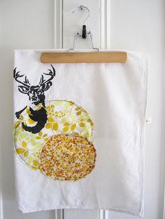 Oh Deer Flour Sack Tea Towel Flour Sack Towels, Tea Towels, Oh Deer, Studio, Sewing, Home Decor, Dish Towels, Dressmaking, Decoration Home