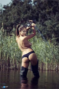 Fishing bikini girls ice