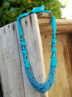 Anthro Limitless Strands Necklace » Flamingo Toes - Imagine this with hand-died silk ribbon and pretty czech glass beads or gemstones.