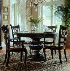 Preston Ridge Round/Oval Pedestal Dining Table - ON SALE | Hooker Furniture | Home Gallery Stores